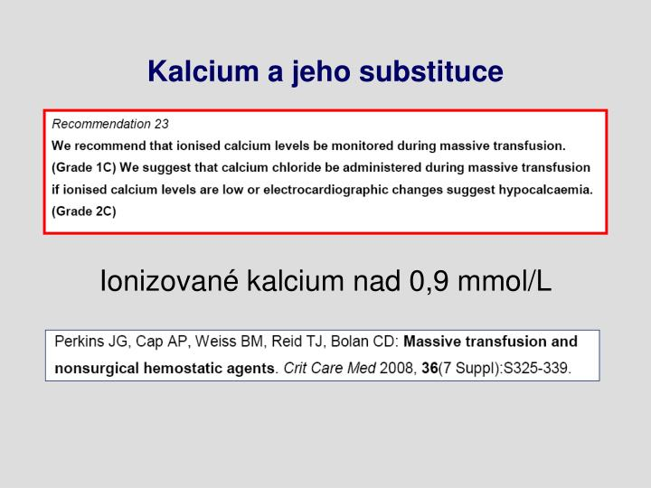 Kalcium a jeho substituce