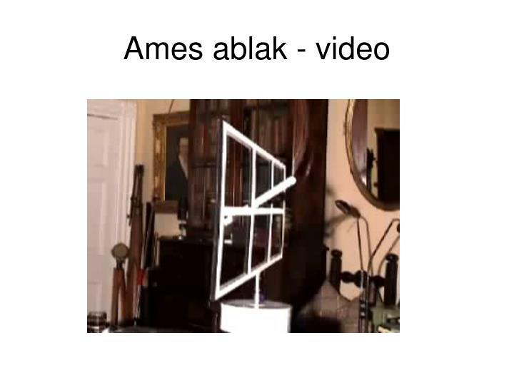 Ames ablak - video