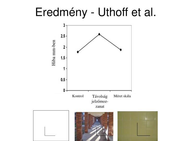 Eredmény - Uthoff et al.