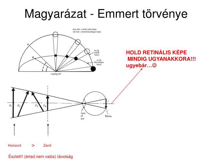 Magyarázat - Emmert törvénye