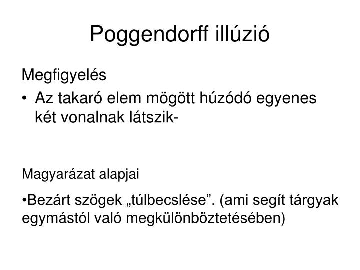 Poggendorff illúzió