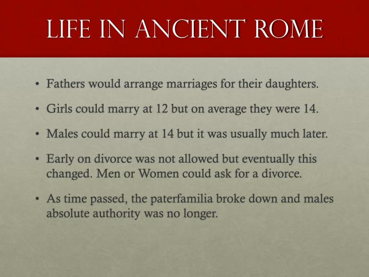 Life in ancient