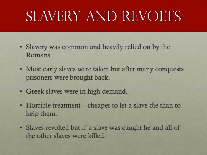 Slavery and revolts