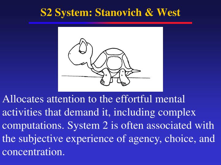 S2 System: Stanovich & West