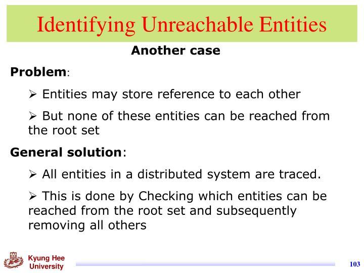 Identifying Unreachable Entities