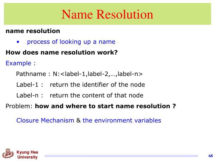 Name Resolution