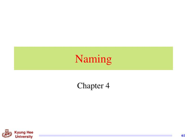 Naming