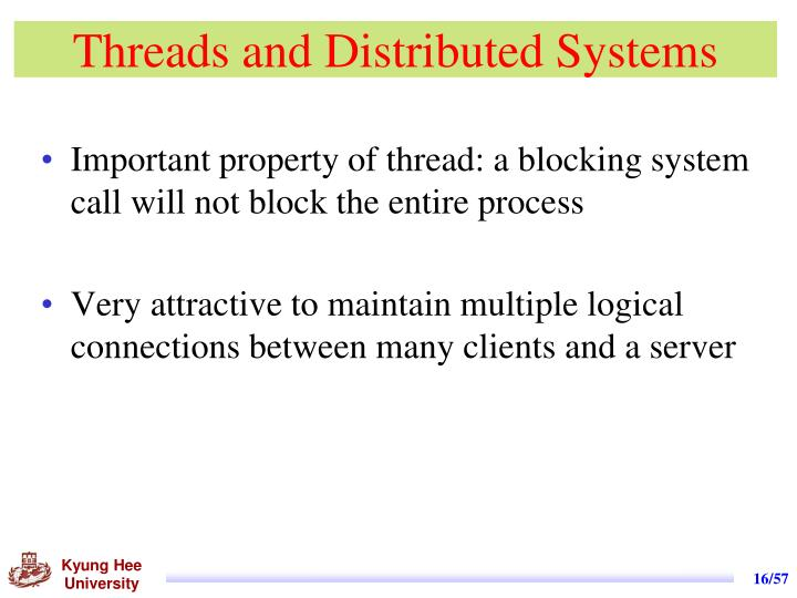 Threads and Distributed Systems