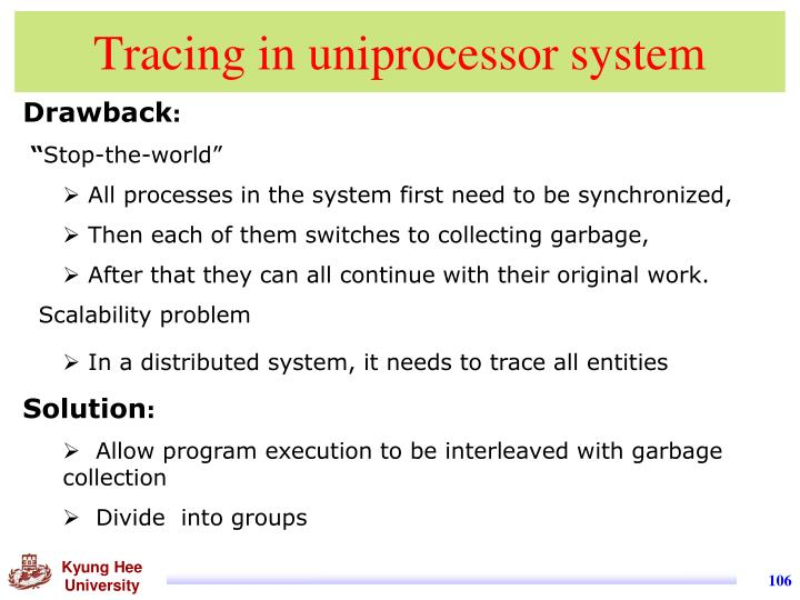 Tracing in uniprocessor system