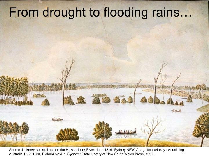 From drought to flooding rains…
