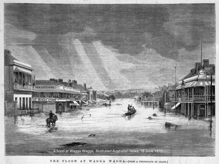 A flood at Wagga Wagga,