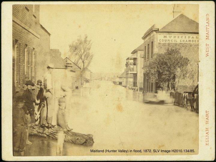 Maitland (Hunter Valley) in flood, 1872. SLV Image H2010.134/85.