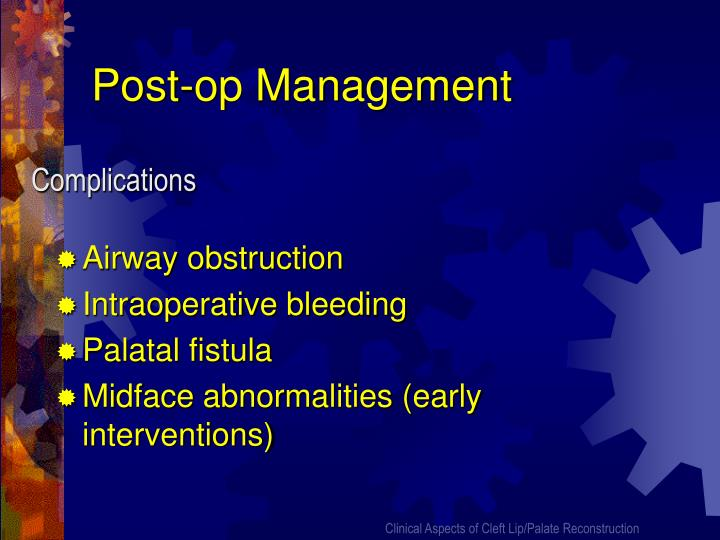 Post-op Management