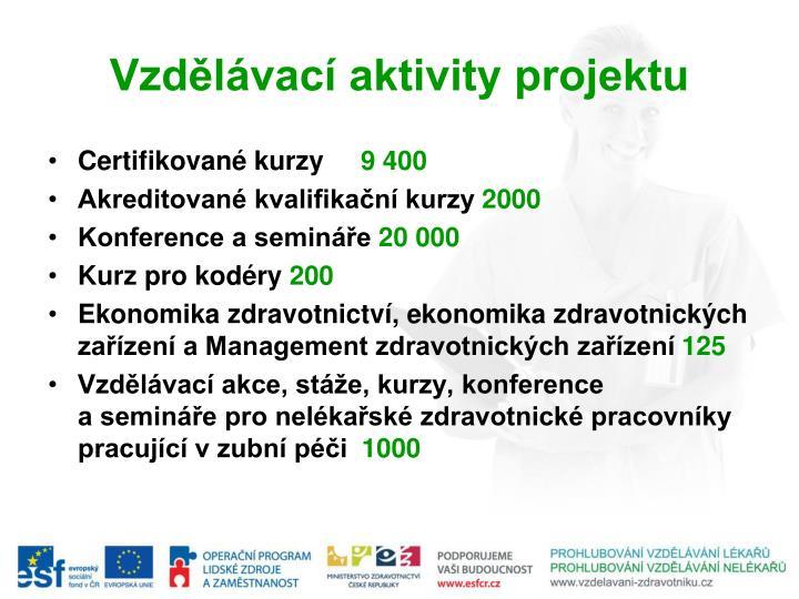 Vzdělávací aktivity projektu