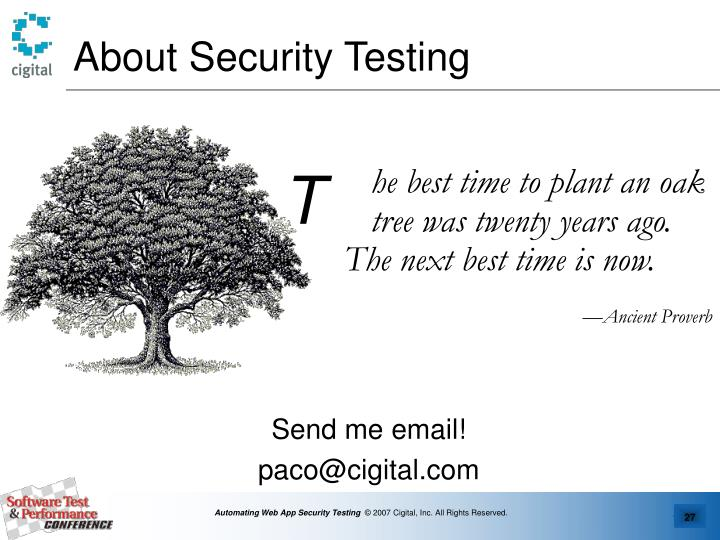 About Security Testing