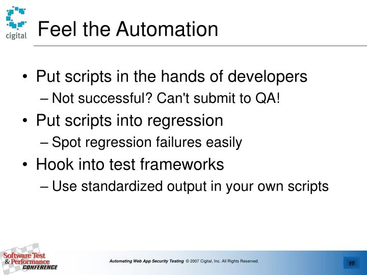Feel the Automation