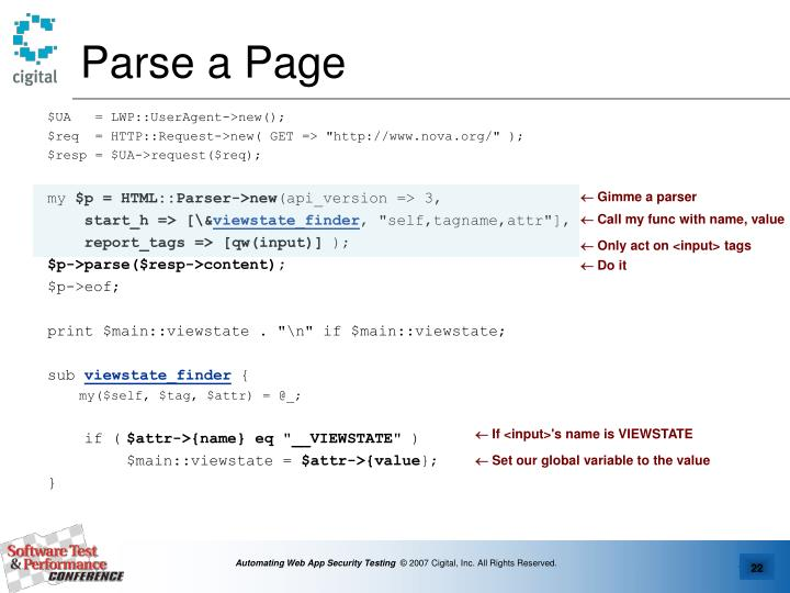Parse a Page