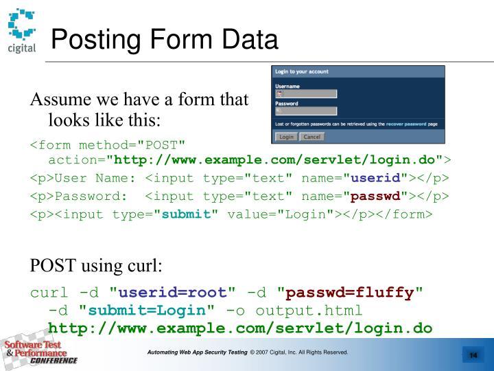 Posting Form Data