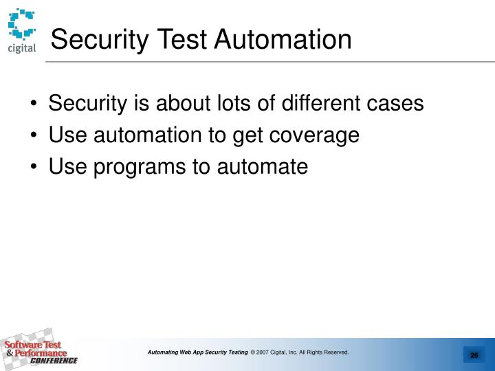 Security Test Automation