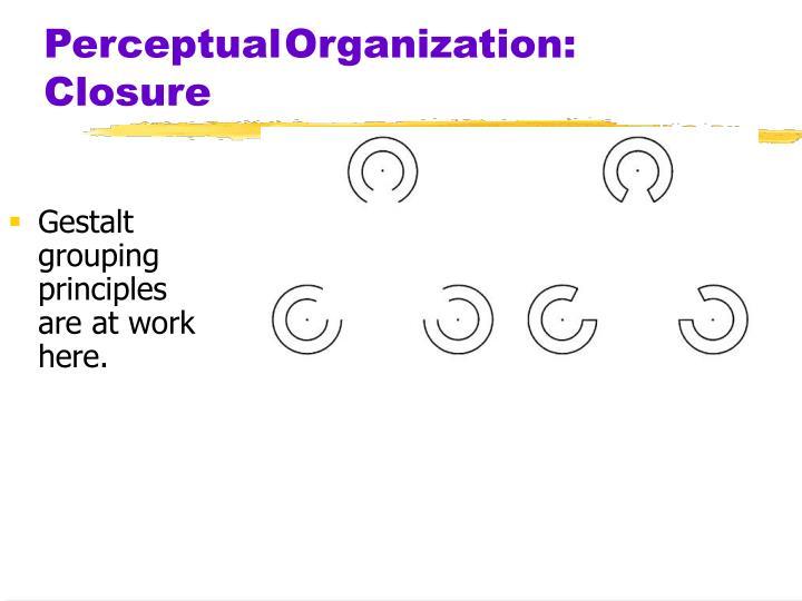 PerceptualOrganization: Closure