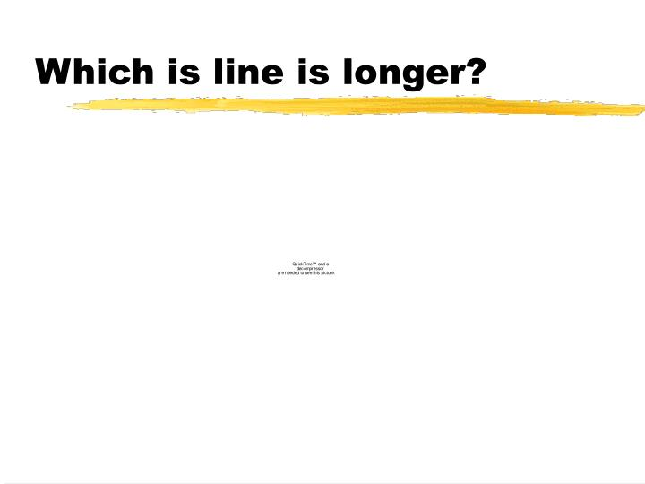 Which is line is longer?