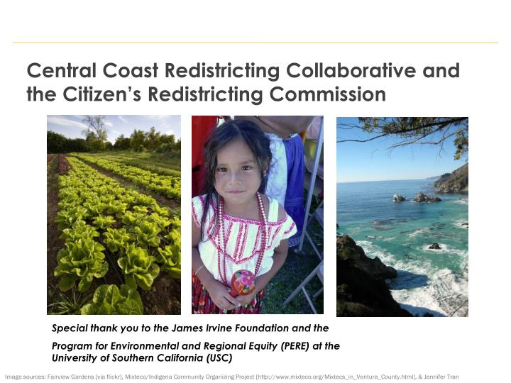 Central Coast Redistricting Collaborative and the Citizen's Redistricting Commission