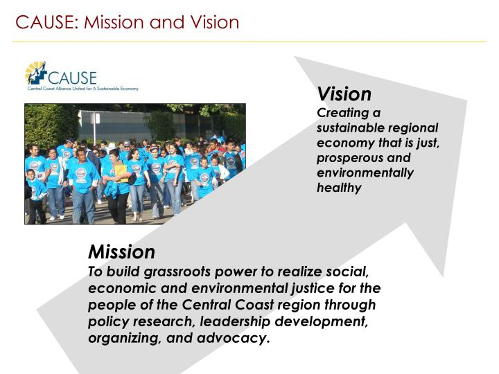CAUSE: Mission and Vision