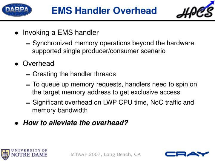 EMS Handler Overhead