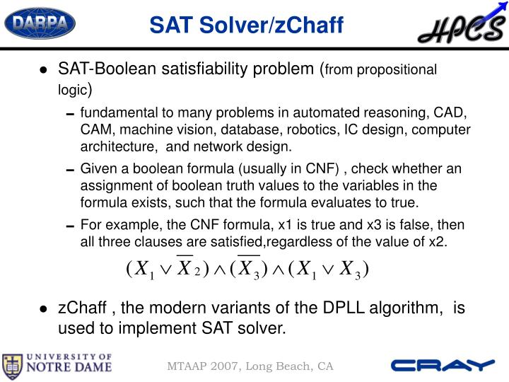 SAT Solver/zChaff