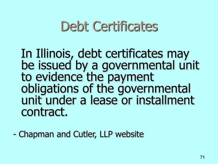 Debt Certificates