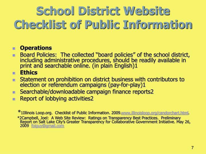School District Website