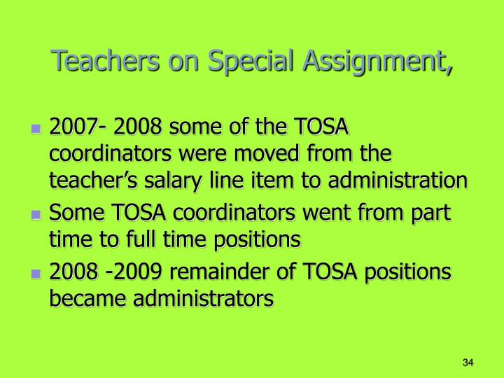 Teachers on Special Assignment,