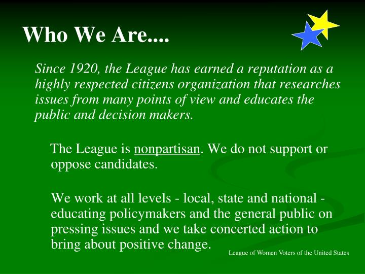 Who We Are....