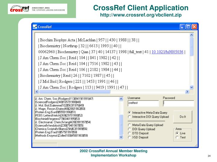 CrossRef Client Application