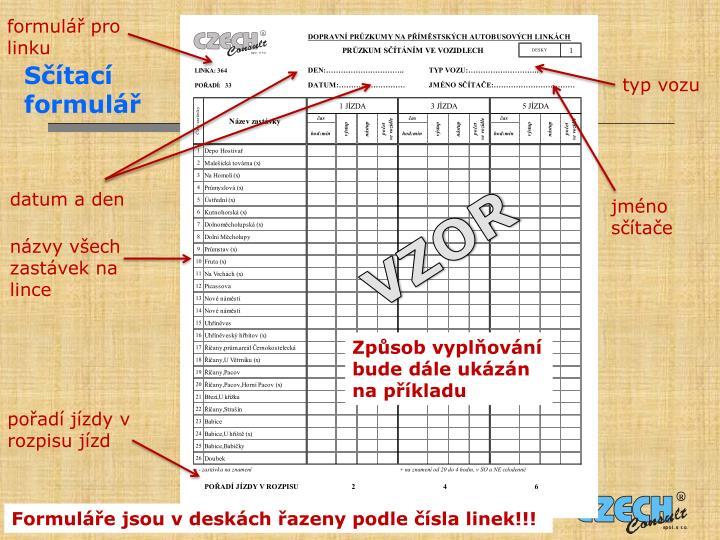 formulář pro linku