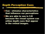 depth perception cues
