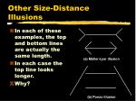 other size distance illusions