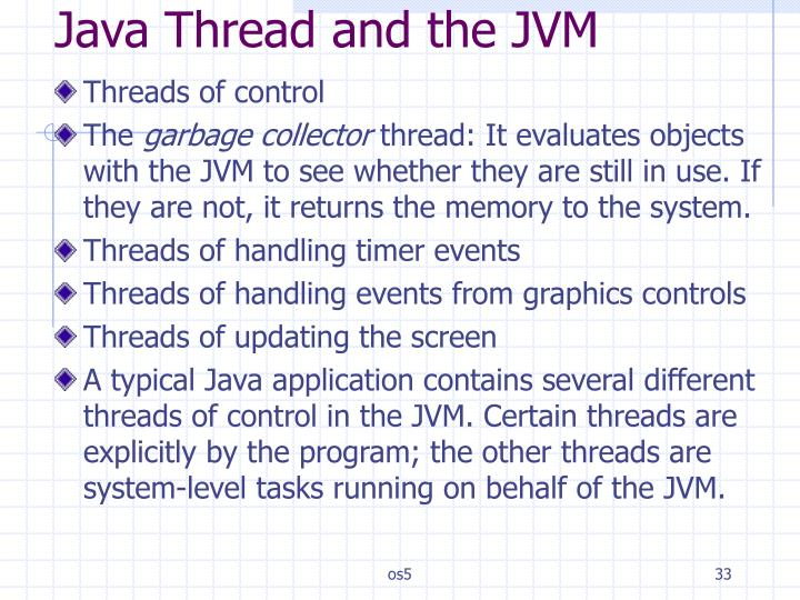Java Thread and the JVM