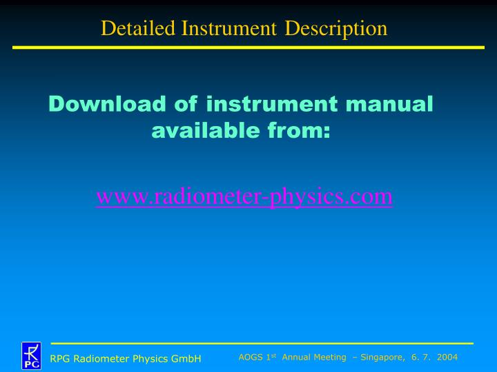 Detailed Instrument