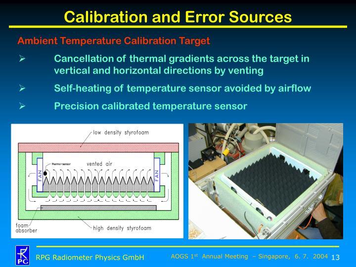 Calibration and Error Sources