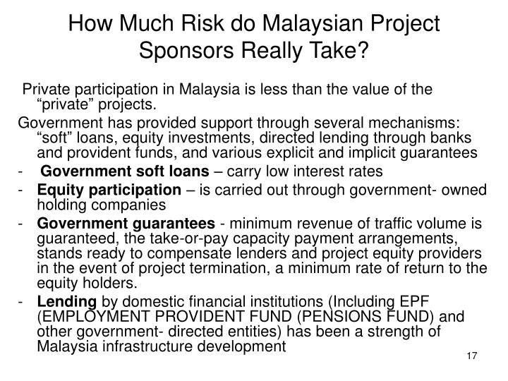 How Much Risk do Malaysian Project Sponsors Really Take?