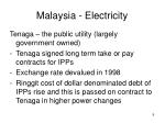 malaysia electricity