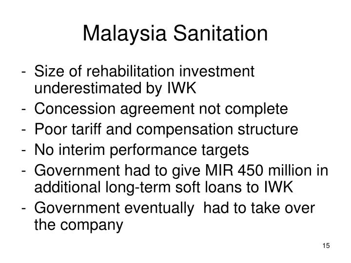 Malaysia Sanitation
