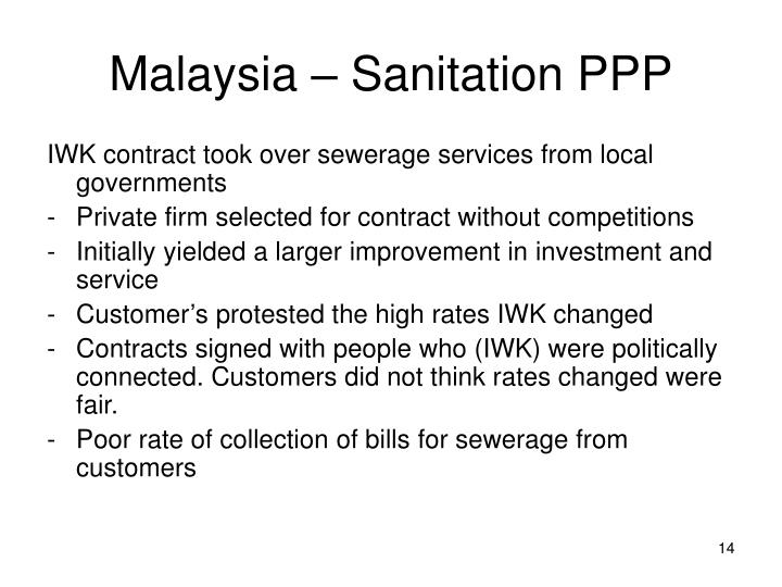 Malaysia – Sanitation PPP