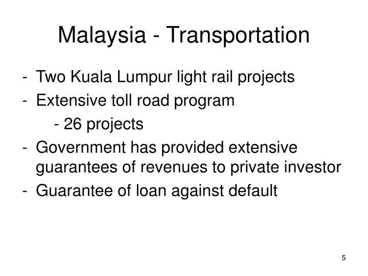 Malaysia - Transportation