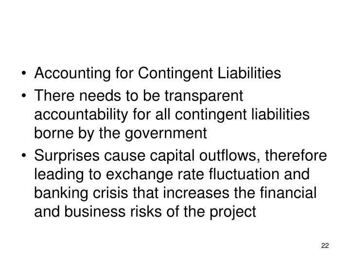 Accounting for Contingent Liabilities