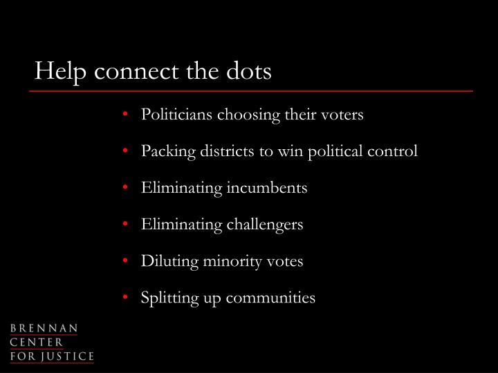 Help connect the dots