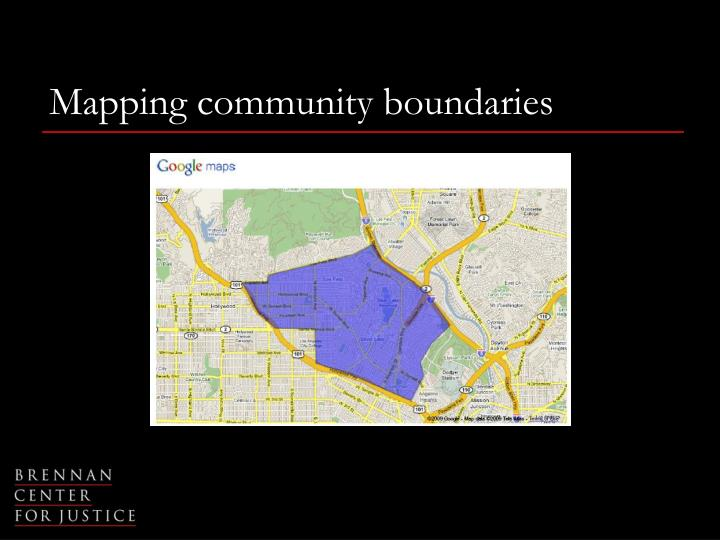 Mapping community boundaries