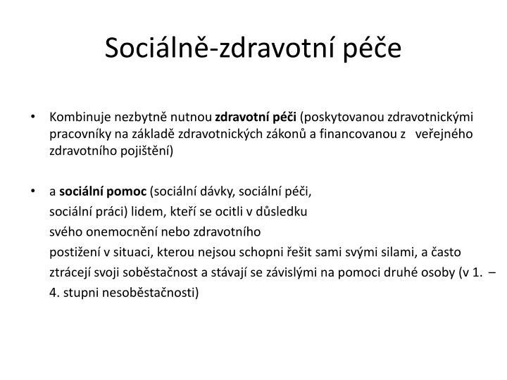 Sociálně-zdravotní péče