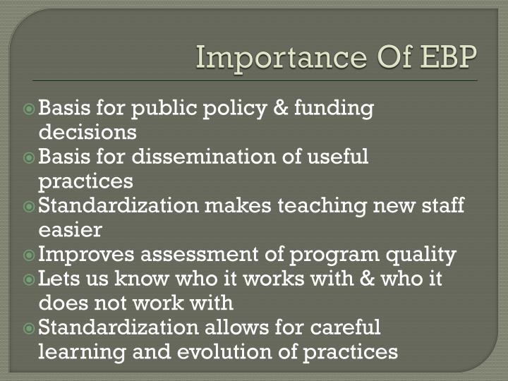 Importance Of EBP